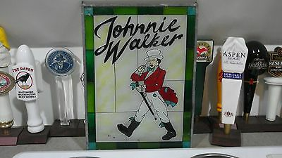 Jonnie Walker Stained Glass Sign
