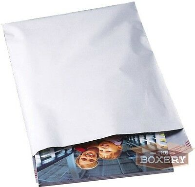 20 - 7.5x10.5 WHITE POLY MAILERS ENVELOPES BAGS 7.5 x 10.5 - 2.5MIL The Boxery