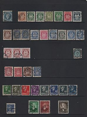Norway Stamps - From Earlies Onwards - used accumulation