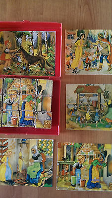 Vintage Wooden Block Jigsaw Puzzle Classic Stories