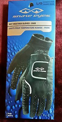 Snake Eyes Golf Wet Weather Gloves, Women's L/g, New With Tags, Great Price