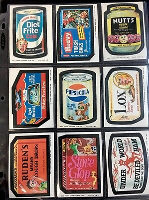 1974 ORIGINAL SERIES 10 Topps Wacky Packages 10th Complete Set + Puzzle + PUPSI