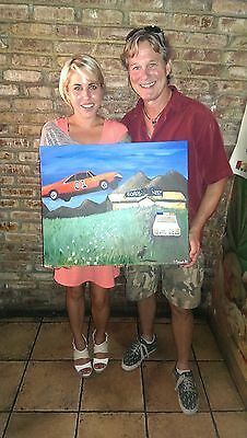"Original Dukes of Hazzard Art titled ""The Boars Nest""Signed #35 of 50"