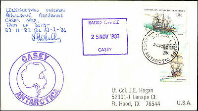 1983 Australia Antarctic Cachets For Casey & Construction + Signed