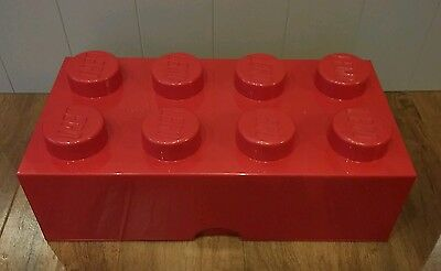 Lego Large Red Official Lego 8 Stud Storage Brick / Box. *VGC*