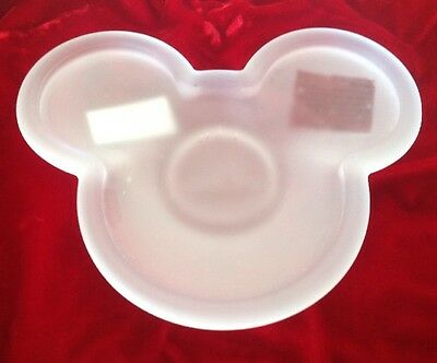 Mickey Mouse Candle Holder Plate Frosted Clear Disney