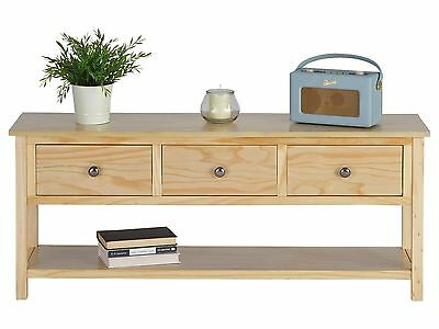 Rustic Pine 3 Drawer Storage Bench - BNIB - Was £139.99 - Console Table