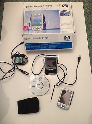 Hp Ipaq Pocket Pc H2210 (Working) & Spare Pda  (For Parts),box, Charger And Cd