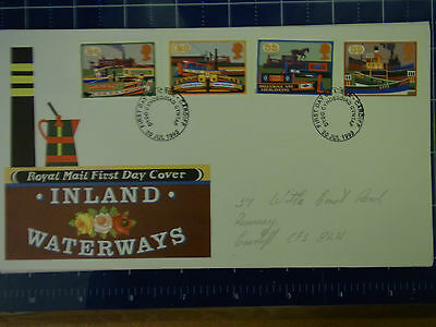First day cover.Inland waterways