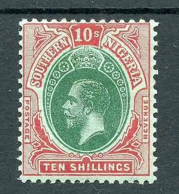 Southern Nigeria 1912 10s green and red on green SG55 MM