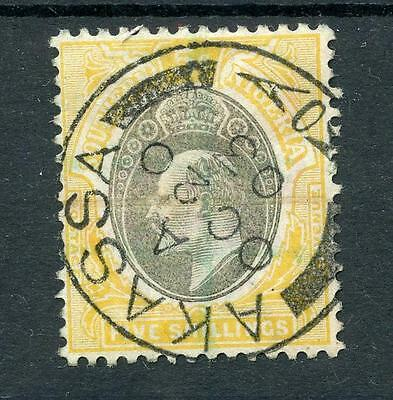 Southern Nigeria 1903-04 5s grey-black and yellow FU SG18 cat £225