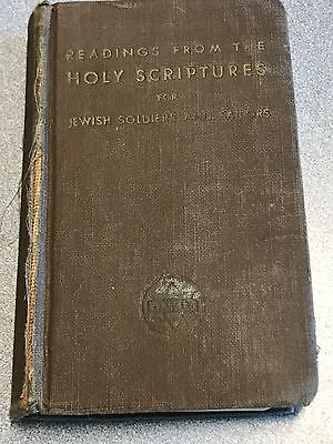 1942 Wwii Book Jewish Holy Scriptures For U.s. Army Personnel Nr