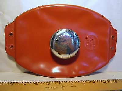Miller Standard No 251 Ice Cap Hot Water Bottle Rubber Red chrome Vintage USA