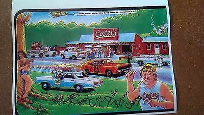 "Dukes of Hazzard s ""Cooter Place ""Signed General Lee Duke Boys Cartoon"