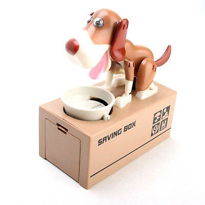 Piggy Bank Hungry Eating Dog Coin Money Saving Puppy Robotic Mechanical Save