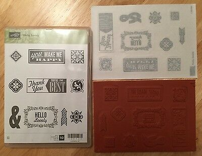 STAMPIN UP - HELLO LOVELY -  Cling Mounted Rubber Stamps