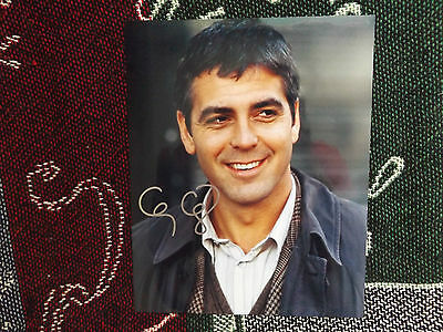 "HAND SIGNED 10"" x 8"" PHOTO + COA - GEORGE CLOONEY"