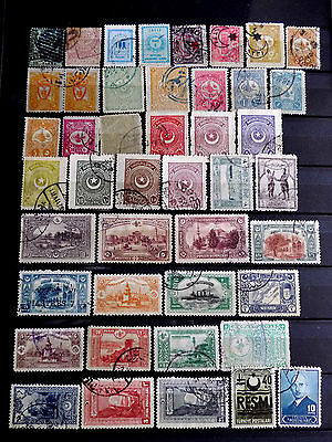 Small used stamps collection of Turkey.