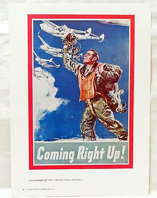 James Montgomery Flagg Reproduction WWI Poster Aviator Coming Right Up Jap Next