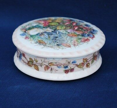 "Royal Doulton ""the Brambly Hedge Gift Collection"" Lidded Trinket Dish ""autumn"""