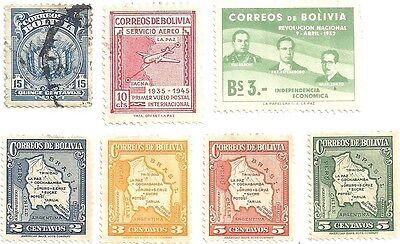 BOLIVIA collection of early stamps (Mint/Used)
