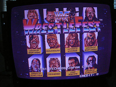 WWF Wrestlefest 1 - 4 Player PCB tested Working In Excellent Condition!