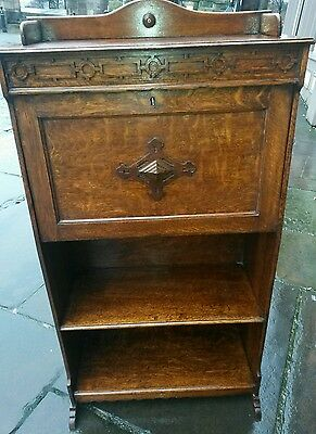 beautiful  solid oak 1920s writing  bureau /bookcase