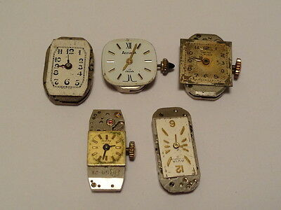 Selection of Vintage Watch Movements spares - repair (steampunk -steam punk) .,
