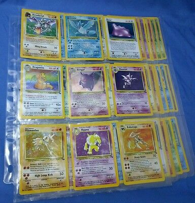 Pokemon Go Authentic WOTC Old School English Complete Fossil Card Set 62/62 - NM