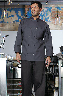 Uncommon Threads Orleans chef coat, Slate, XS-2XL, 0488