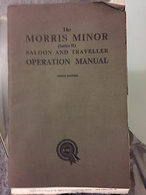 The Morris Minor Saloon And Traveller Operation Manual