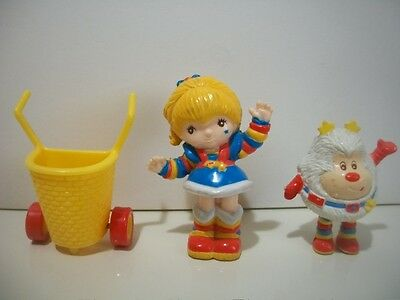 Vintage 1983, Rainbow Brite, Twink, and Shopping Cart PVC figures