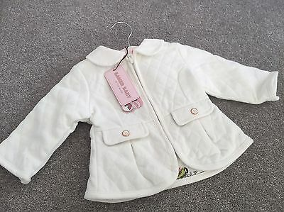 CC. BNWT Baby Girls Ted Baker Cream Quilted Jacket 3-6 months