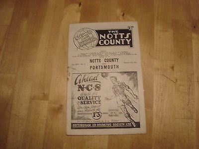 Notts County v Portsmouth FA Cup Feb 1952