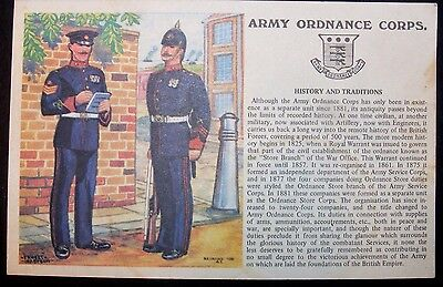 Military Postcard - Army Ordnance Corps - History and Traditions - Coat of Arms
