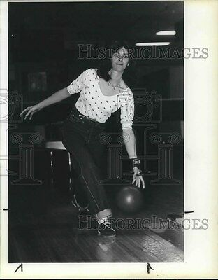 1983 Press Photo Roberta Brown, compete in 60 bowler field, Wash. Queens Tourney
