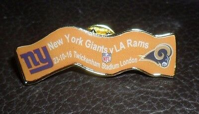 New York Giants La Rams Limited Edition 23.10.16 Nfl Rugby Twickenham Badge