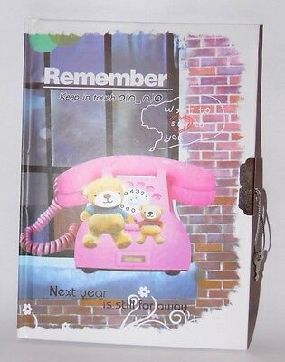 °°° Carnet / Journal intime °°° REMEMBER °°° Ourson °°° 18x13cm °°° 60 pages