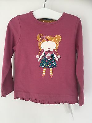 CC. BNWT Mothercare Baby Girls Pink Top Age 12-18 Months