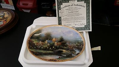 Thomas Kinkade Lamplight Country Collector Plate from Bradford Exchange
