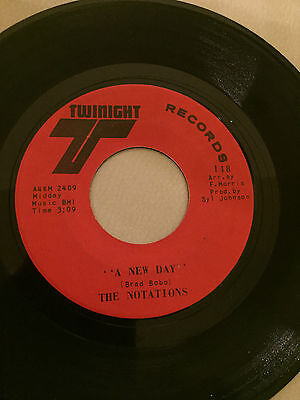 Crossover Northern Soul - THE NOTATIONS - A NEW DAY - TWINIGHT  45RPM