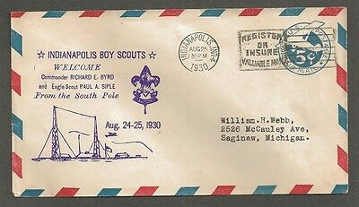 1930 Boy Scouts Paul Siple Indianapolis Home Welcome Byrd Antarctic