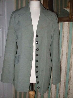 Vintage Authentic 70/80s Paul Poly women's black & white dogtooth Jacket Size 12