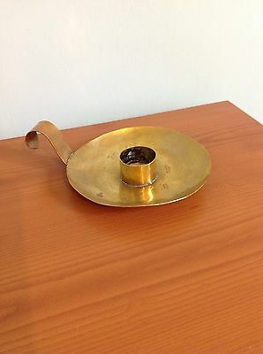 Candle Holder Brass Arts & Crafts Antique Handmade Artisan Collectable