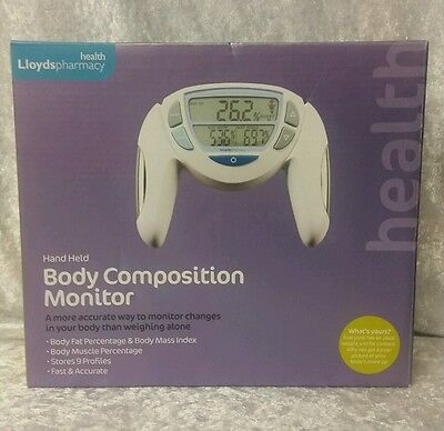 ���� Lloyds Pharmacy Hand Body Composition Monitor Fat Muscle Mass Water NR ����