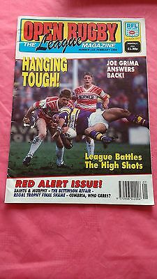Open Rugby League Magazine No 122 February 1990