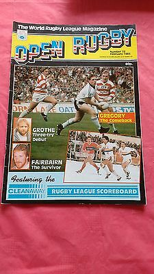 Open Rugby League Magazine No 72 February 1985