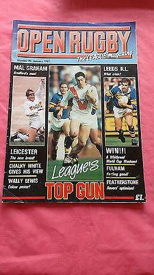 Open Rugby League Magazine No 91 January 1987