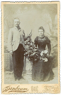 Occupational Cabinet Card of Two Los Angeles City Orange Grove Growers c.1891