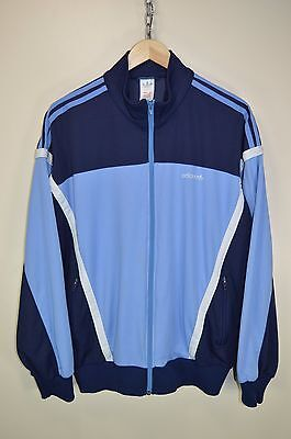 vtg 80s ADIDAS OLDSCHOOL CASUALS RETRO TRACK JACKET TRACKSUIT TOP SIZE D52 LARGE